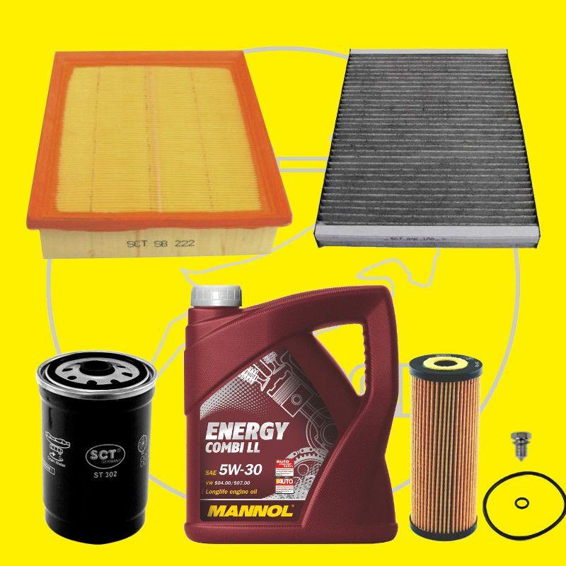 filter set inspektionspaket mit l vw passat 3bg 1 9 tdi. Black Bedroom Furniture Sets. Home Design Ideas