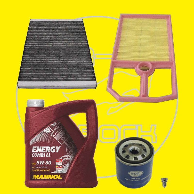 filter satz 3 stk inspektionspaket mit 5l l vw golf 4 1. Black Bedroom Furniture Sets. Home Design Ideas