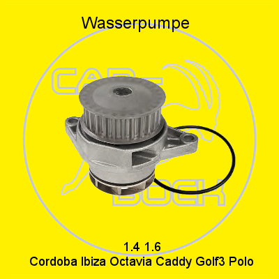water pump 1 4 1 6 vw golf iii polo 6n 6k caddy seat arosa. Black Bedroom Furniture Sets. Home Design Ideas