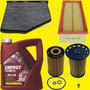 Filter set / Service-kit with 5l Longlife III oil 1.6/2.0...