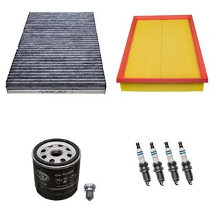 filter satz inspektionspaket mit z ndkerzen vw golf 4 1 6 16v 77kw 44 60. Black Bedroom Furniture Sets. Home Design Ideas