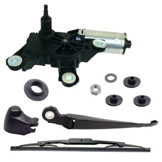 Wiper motor + wiper arm repair kit rear window VW Passat 3B 3BG up to Year 01/2003