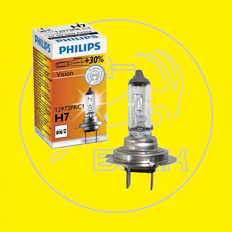 gl hlampe philips vision h7 12v 55w 30 fernlicht. Black Bedroom Furniture Sets. Home Design Ideas