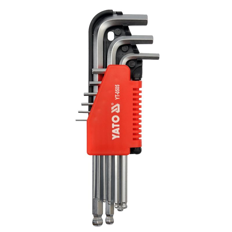 7 Pcs Ball End Hex Key Chromium Vanadium Steel Hex Key Ball Wrench Manually Operated Solid Wrench