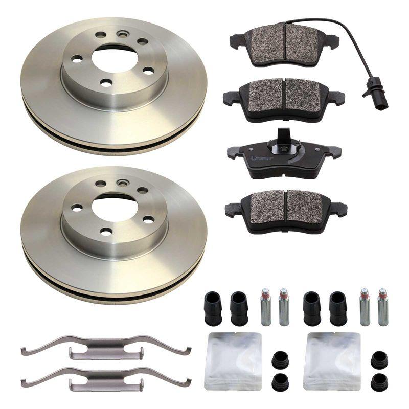 Brake Discs 2x Front for VW CARAVELLE 2.4 2.5 2.8 D TDI T4 Diesel Petrol Delphi