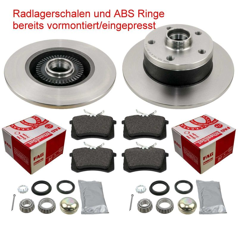 AUDI A 6 A6 1997-2004 SALOON /& AVANT MODELS FRONT 2 BRAKE DISCS AND PADS SET NEW