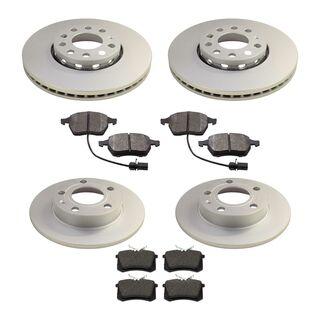 bremsen set vorn hinten beschichtete bremsscheiben 1lb. Black Bedroom Furniture Sets. Home Design Ideas