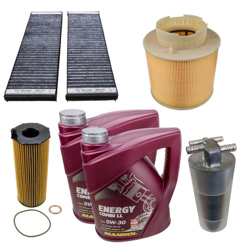 filter set 4 stk inspektionspaket mit 10l longlife iii. Black Bedroom Furniture Sets. Home Design Ideas