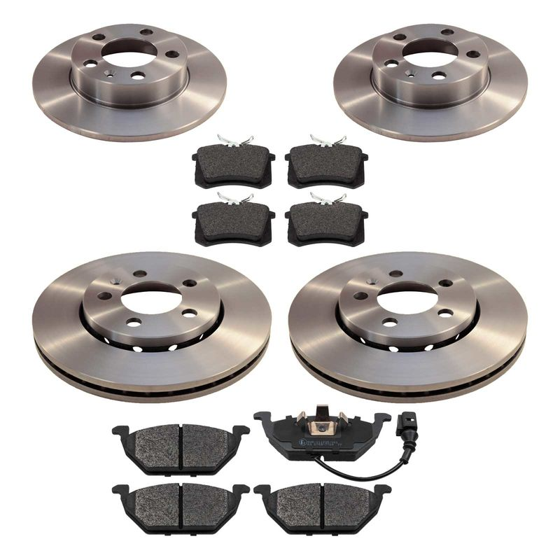 brake disc set front rear vw polo 9n skoda fabia 89 00. Black Bedroom Furniture Sets. Home Design Ideas