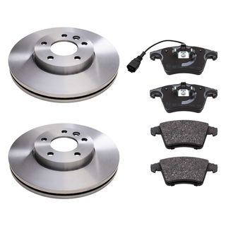 For VW Transporter T6 2.0 2015-2 Front /& 2 Rear Brake Discs /& Brake Pads Set