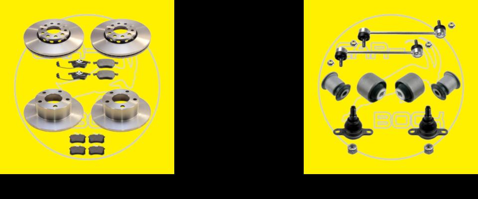 Bremsscheiben-Sets und Querlenkerreparatur